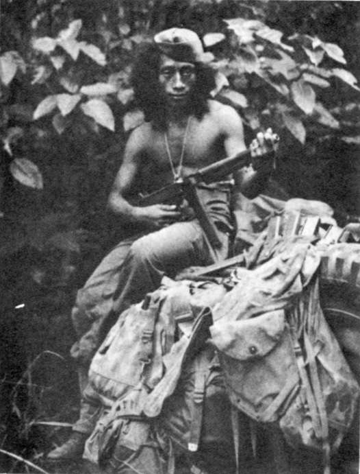 Philippine Guerrilla, armed with American equipment.