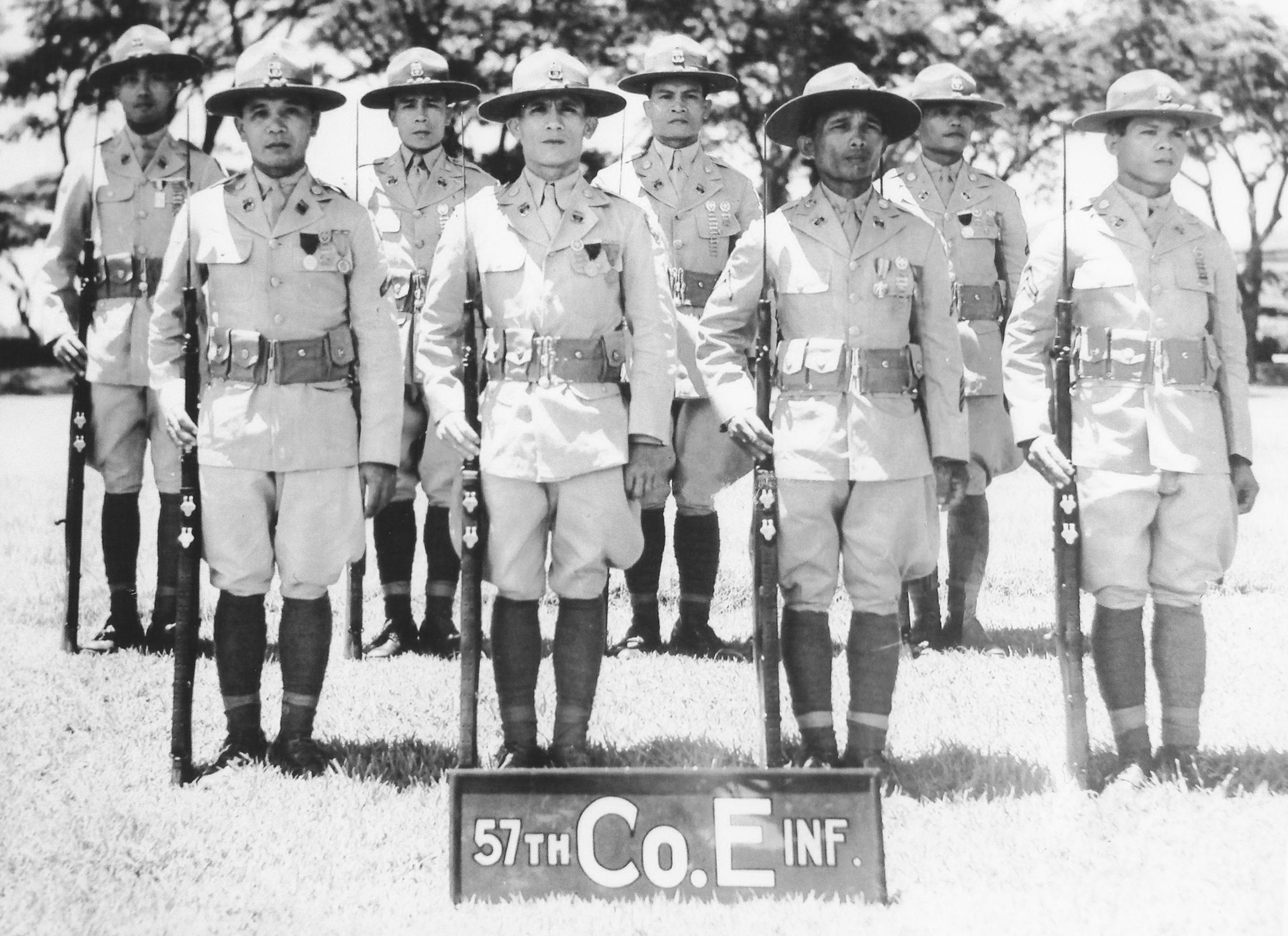 Members of Company E 57th Infantry Regiment.