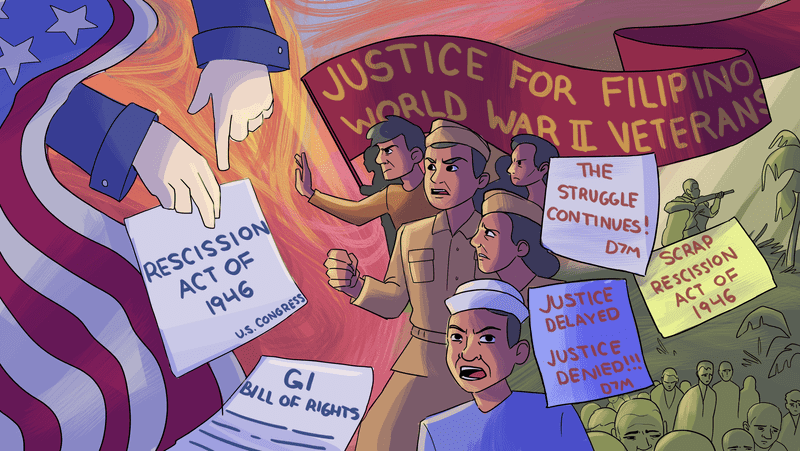 Justice for Filipino World War II Veterans mural