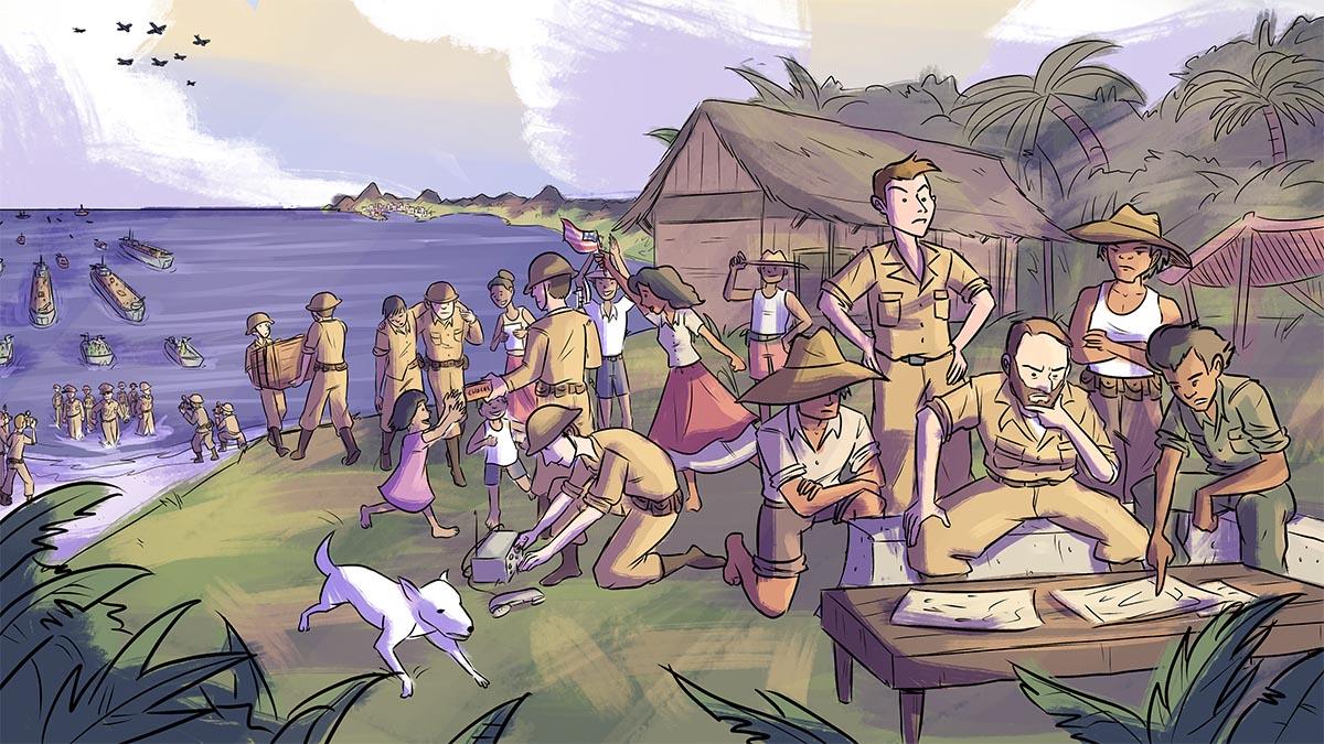 Justice for Filipino World War II Veterans mural